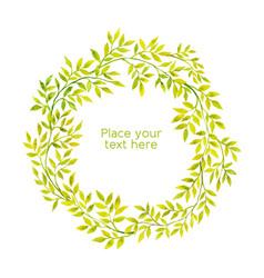 watercolor floral framexa vector image