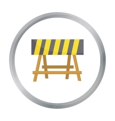 Construction barricade icon in cartoon style vector image vector image
