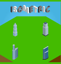 isometric skyscraper set of residential building vector image