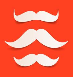 paper santas moustache vector image