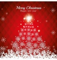 postcard merry chrsitmas happy new year pine vector image