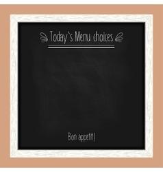 Square menu chalkboard for cafes and restaurants vector image