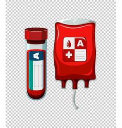 blood in tube and bag vector image
