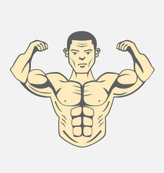 men bodybuilding fitness lifestyle vector image vector image