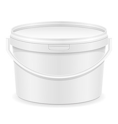 plastic bucket for paint 02 vector image vector image