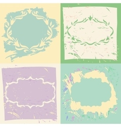 Set backgrounds and frames in pastel colors vector