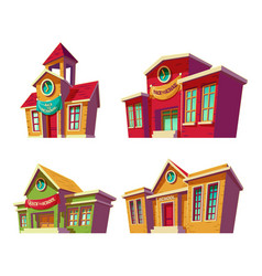 set of cartoon of various vector image vector image