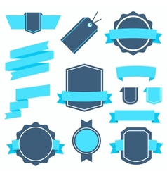 Stickers and Badges Set 4 Flat Style vector image vector image
