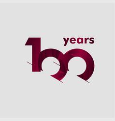 100 year anniversary elegant number template vector