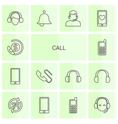 14 call icons vector