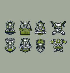 a set emblems badges logos a military vector image