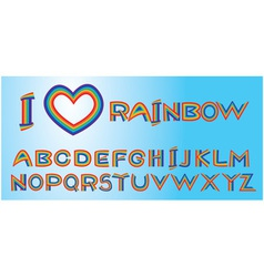 Alphabet - rainbow letters vector image
