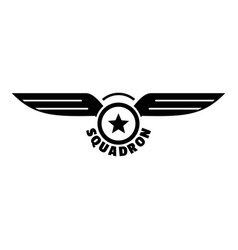 avia squadron logo simple style vector image