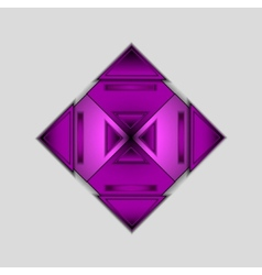 background with colored purple triangle vector image