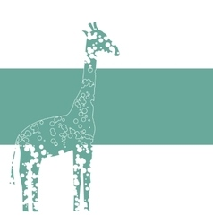 Banner with Giraffe vector image