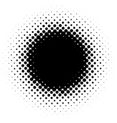 black and white abstract dotted background vector image