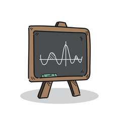 blackboard on a white background vector image