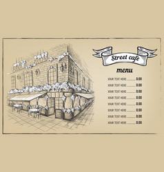 cafe sketch vector image