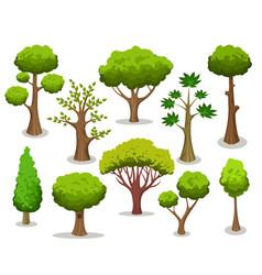Cartoon tree collection vector