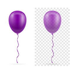 Celebratory purple transparent balloons pumped vector