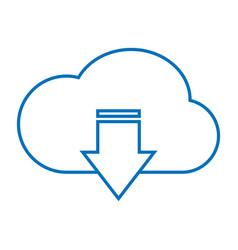 Cloud download storage vector