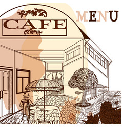 Coffee menu design for cafe vector
