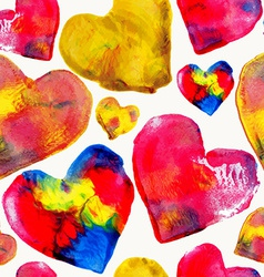 Colorful heart love pattern background vector image