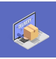 Concept for fast Online delivery service vector image
