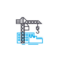 construction site thin line stroke icon vector image