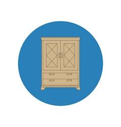 Cupboard cabinet vector