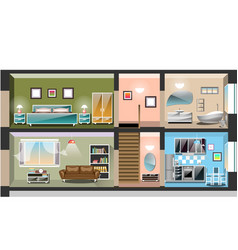 detailed modern house interior vector image