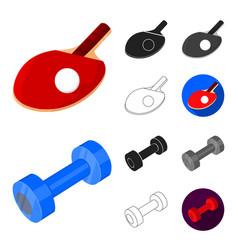 Different kinds of sports cartoonblackflat vector