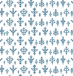 Different snowflake seamless pattern Design vector