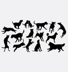 dog animal silhouette vector image