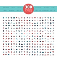 Emblems Logo 300 Flat Icons Collection vector