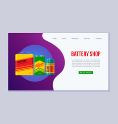 fast battery shop web template vector image