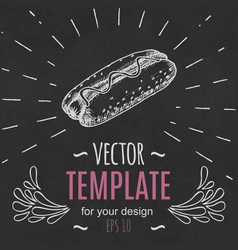 fast food menu design template hand drawn vector image