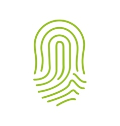Fingerprint green icon image vector