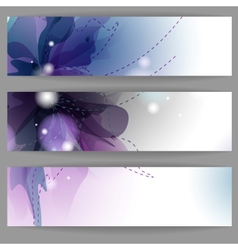 Floral Summer Banners vector