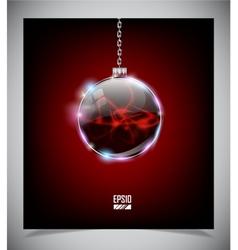 glass Christmas ball vector image vector image