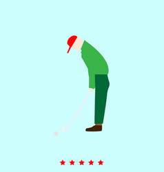 golfer set it is color icon vector image