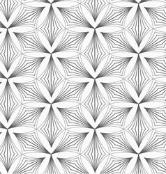 Gray striped pointy trefoils vector