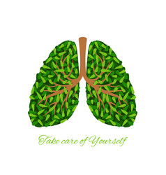 Green leaves lungs vector