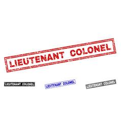 Grunge lieutenant colonel scratched rectangle vector