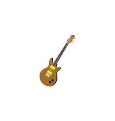 guitar logo icon vector image