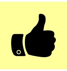 Hand sign Flat style icon vector image vector image