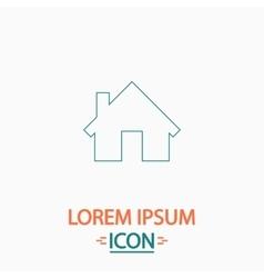 Home computer symbol vector