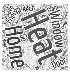 Home energy saving tips Word Cloud Concept vector
