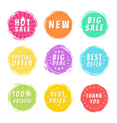 Hot sale new deal special offer promo best price vector