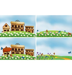 Houses and nature vector image
